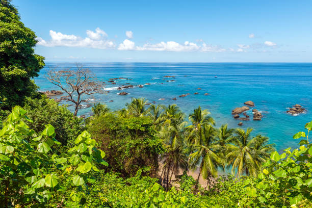 Cano Island, Corcovado national park, Costa Rica stock photo
