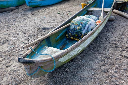 Canoe for artisanal fishing