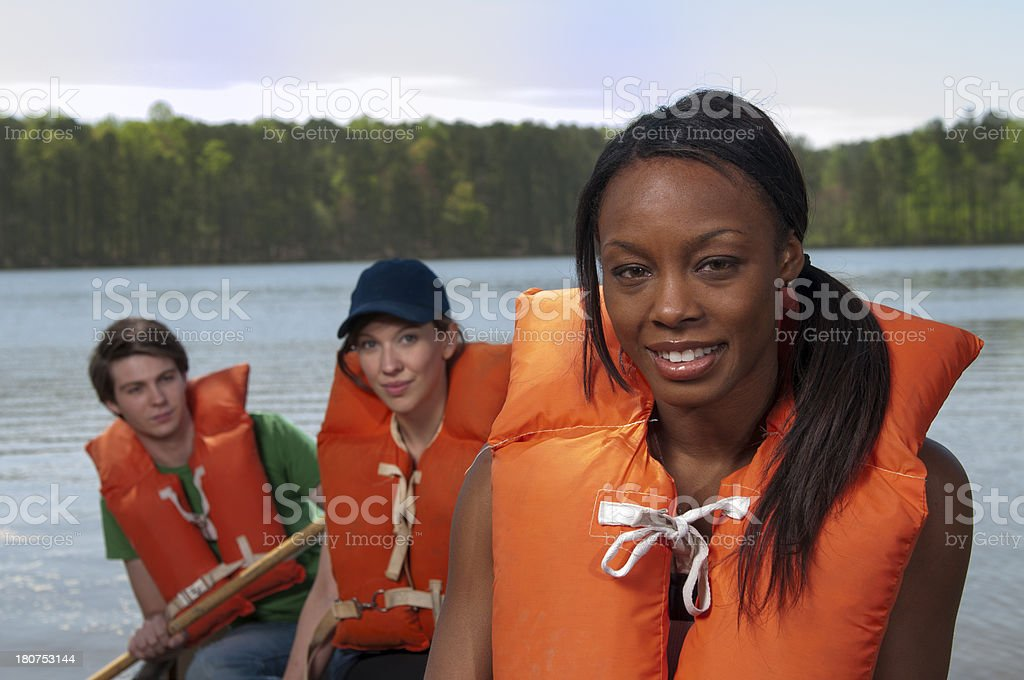 Canoe Friends royalty-free stock photo