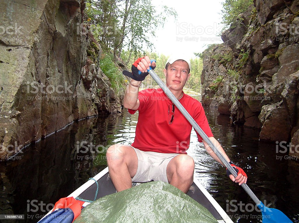 Canoe fun royalty-free stock photo