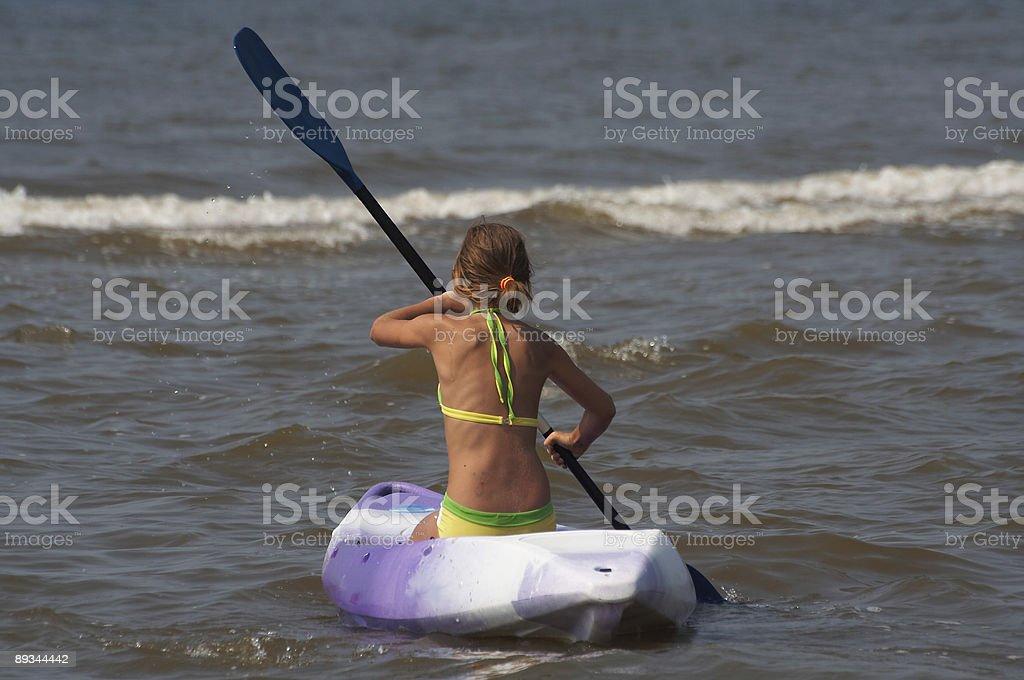 Canoe Girl royalty-free stock photo