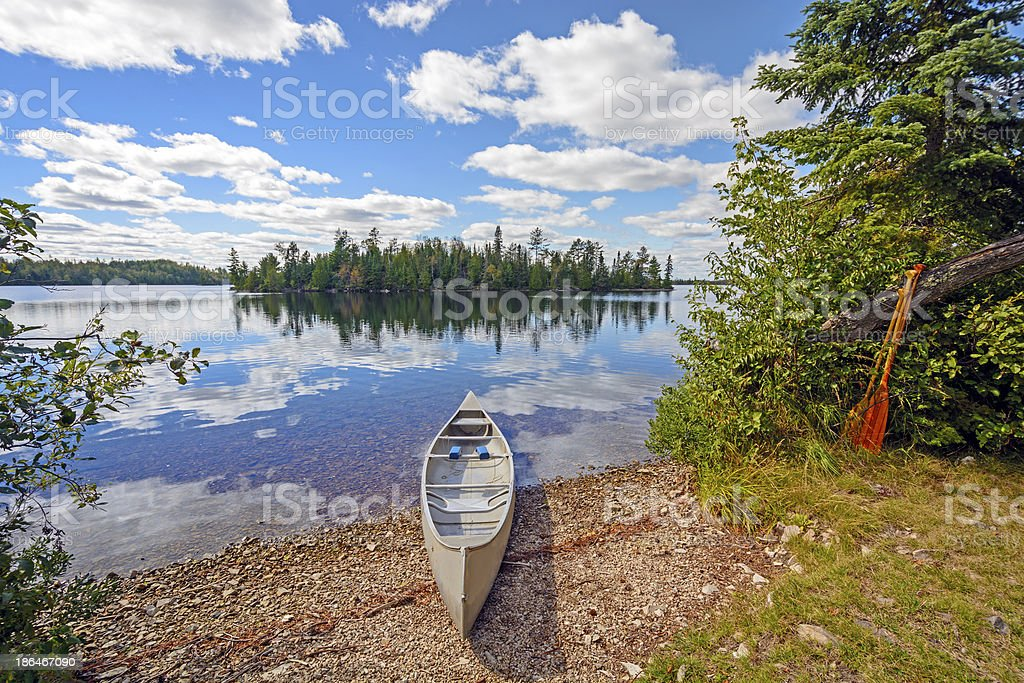 Canoe in for the Day stock photo