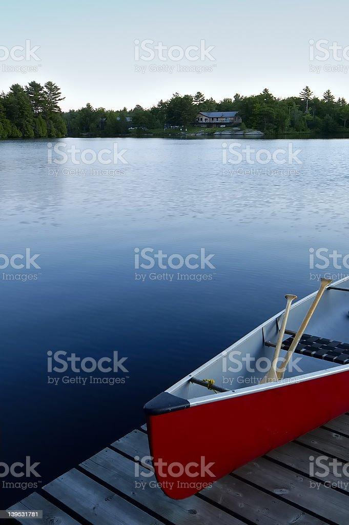 Canoe Lake stock photo