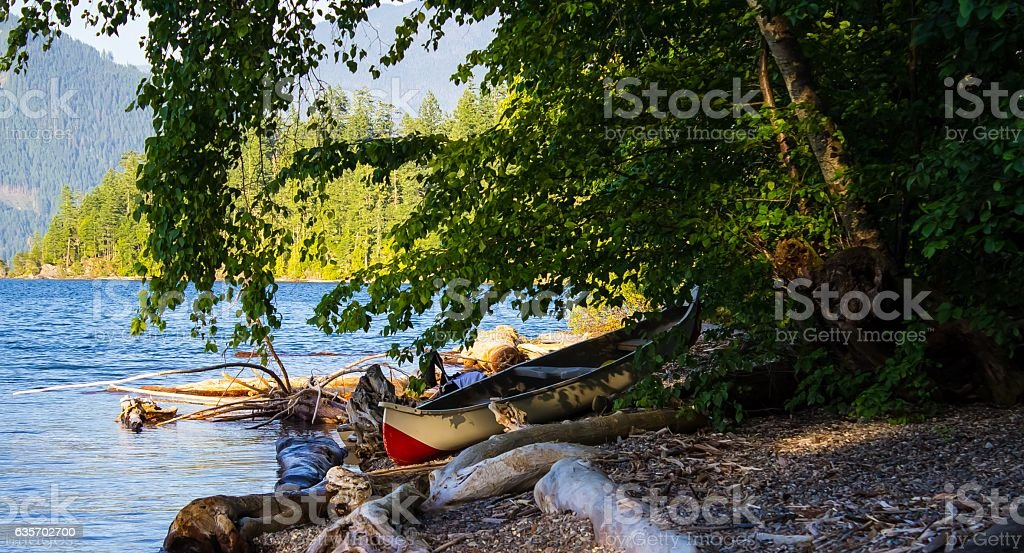 Canoe Landing royalty-free stock photo