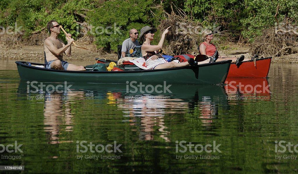 Canoe Paddle Party royalty-free stock photo