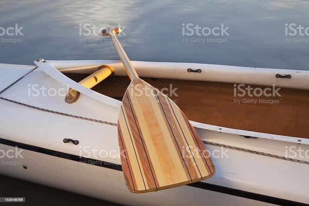 canoe paddle royalty-free stock photo