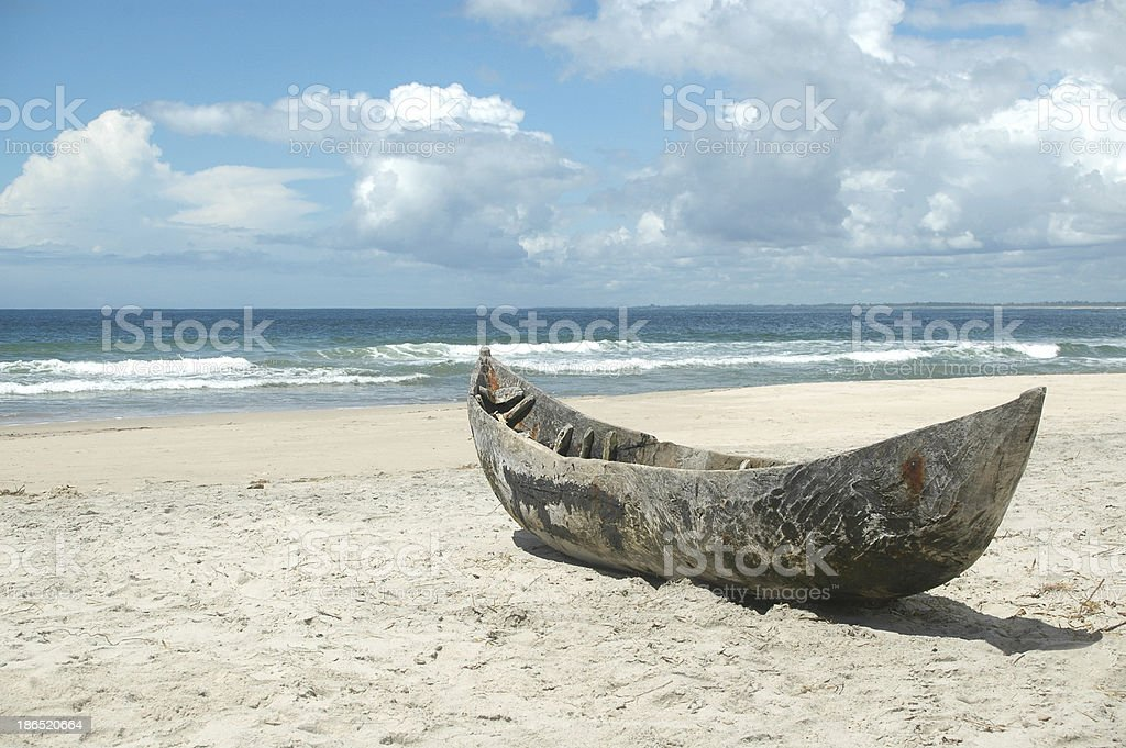 Pirogue royalty-free stock photo