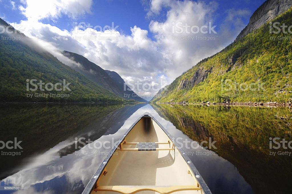 Canoe ride stock photo