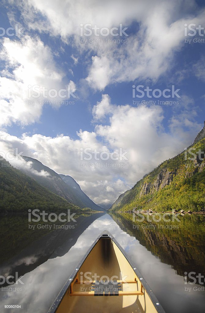 Canoe ride royalty-free stock photo
