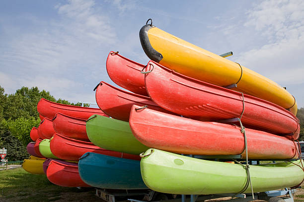 Canoe Series stock photo