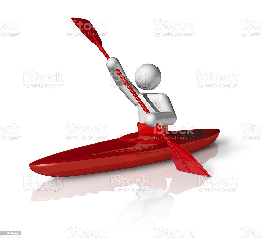 Canoe Slalom 3D symbol royalty-free stock photo