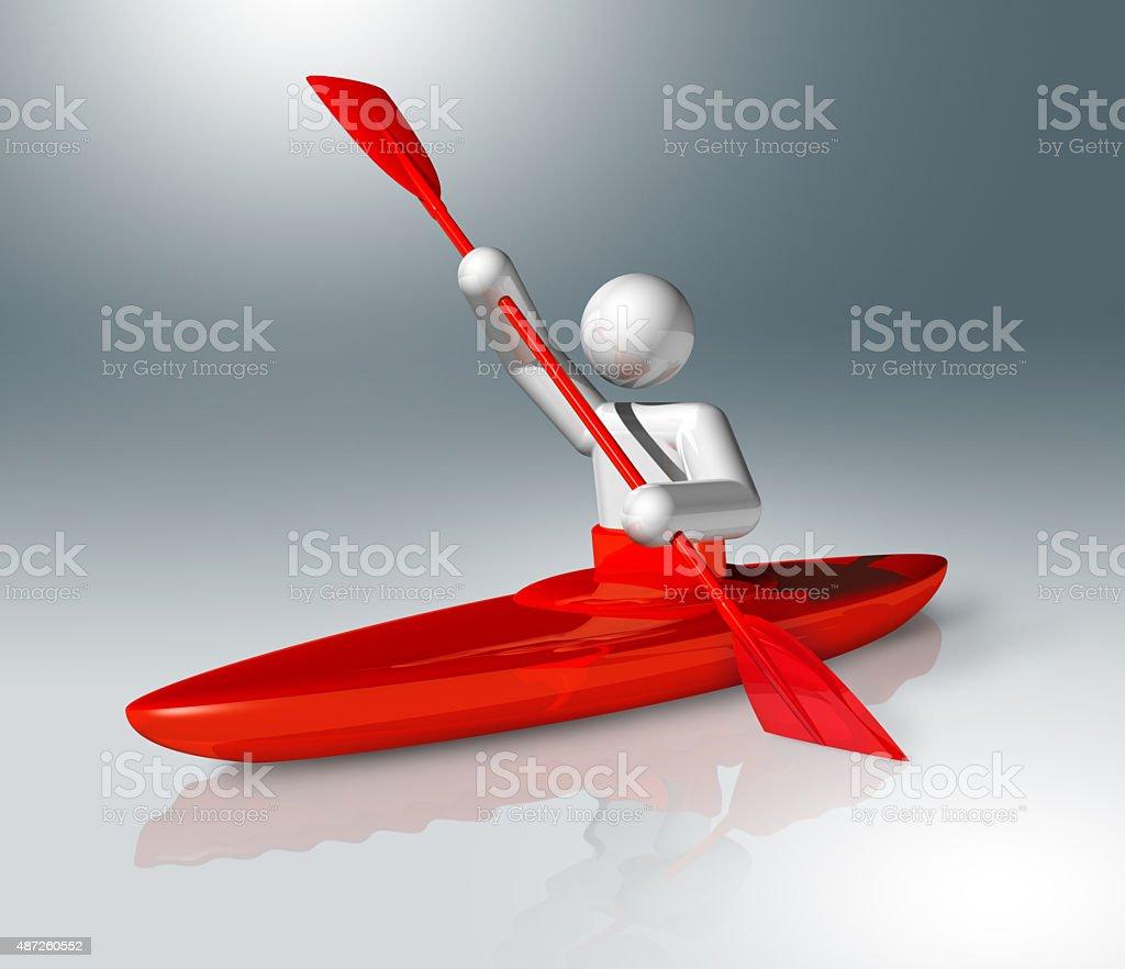 Canoe Slalom 3D symbol stock photo