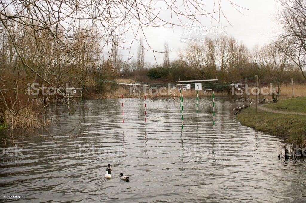 Canoe Slalom Pond stock photo
