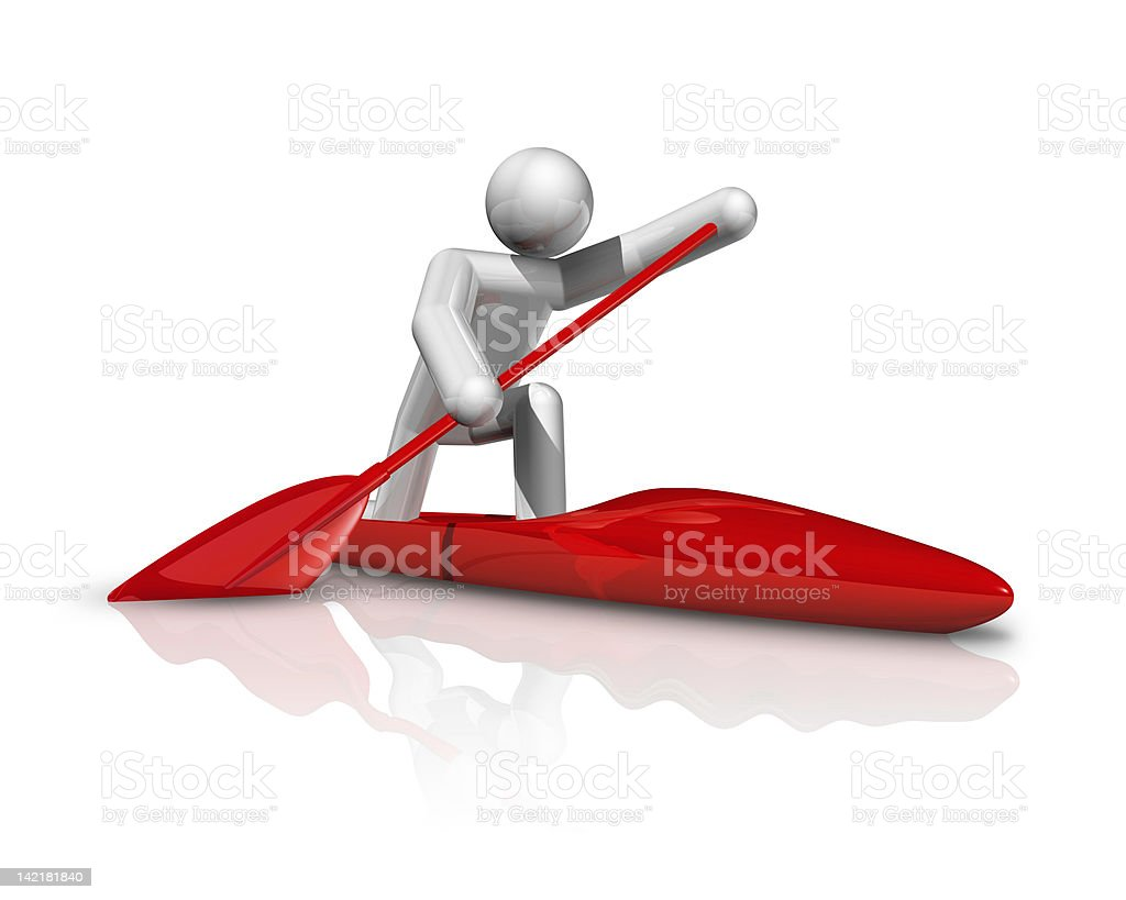 Canoe Sprint 3D symbol royalty-free stock photo