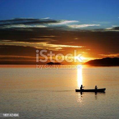 184332102istockphoto XL canoe sunset 183142494
