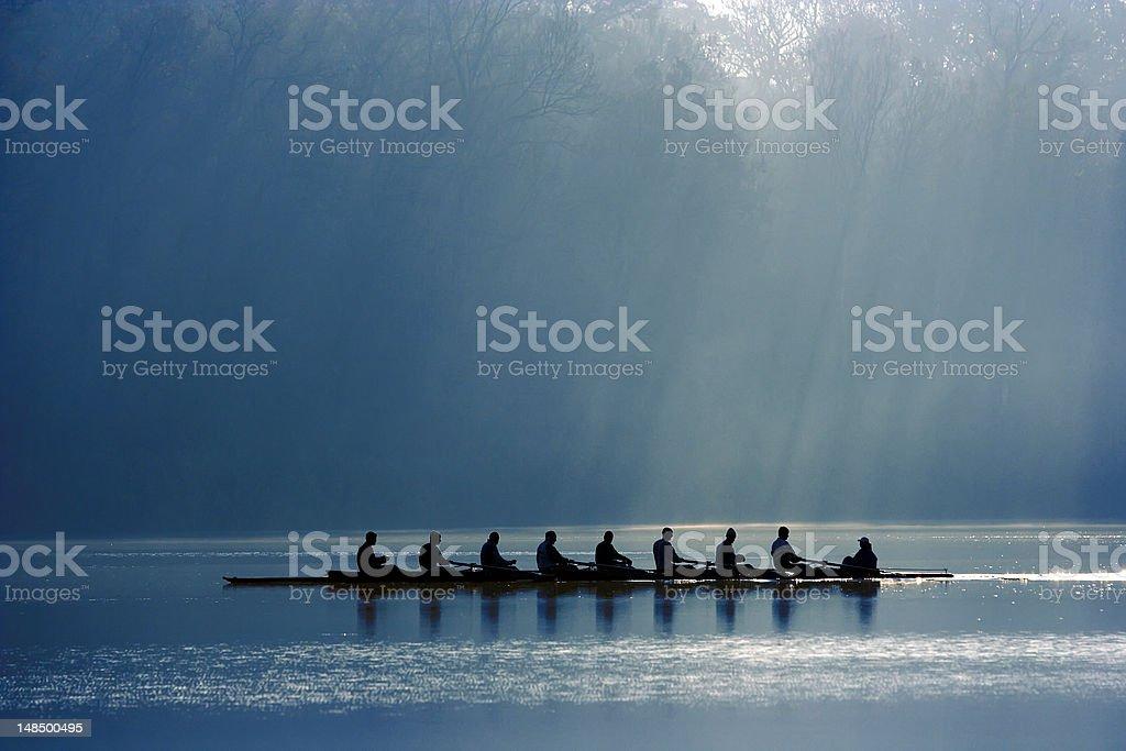 Каноэ команды стоковое фото