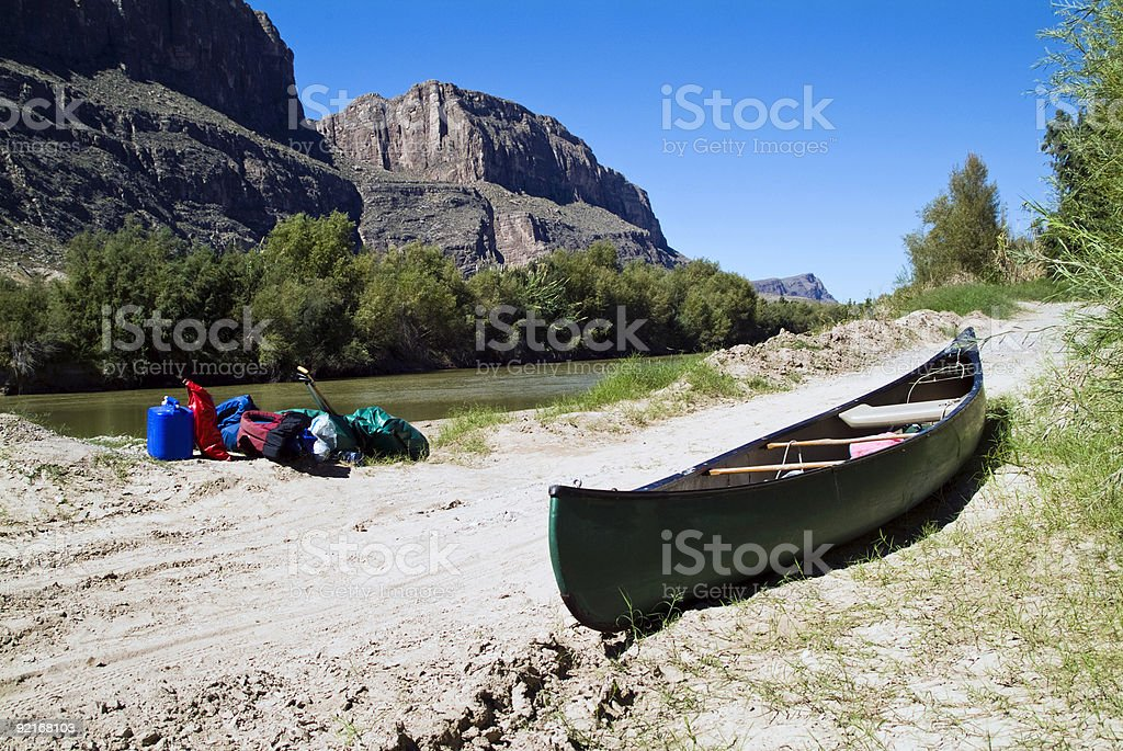 Canoe Trip End royalty-free stock photo
