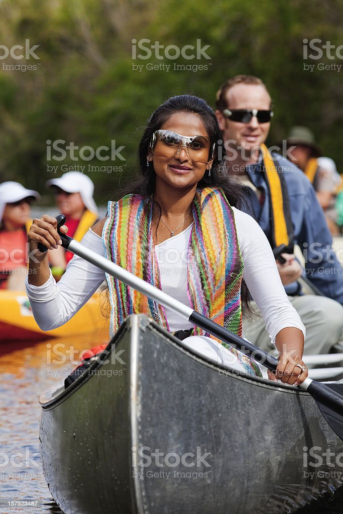 Canoe Trip royalty-free stock photo
