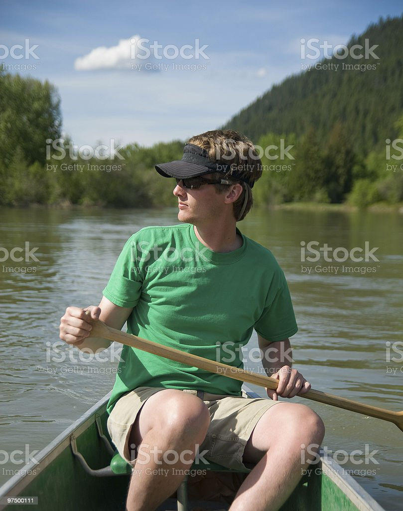 Canoe Trip royalty-free stock photo