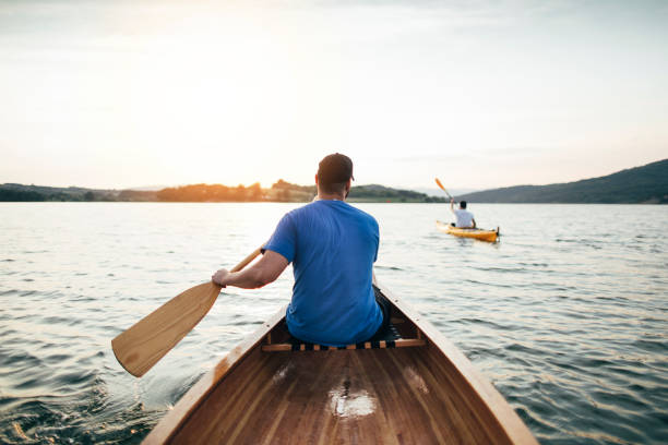 Canoeing and kayaking stock photo