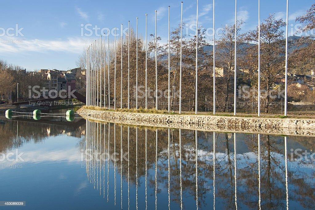 Canoeing canal of La Seu royalty-free stock photo
