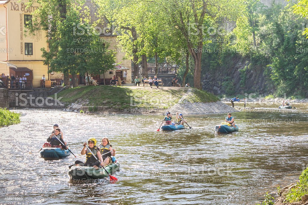 Canoeing in Europe stock photo