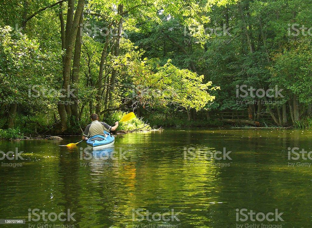 canoeing on Krutynia stock photo