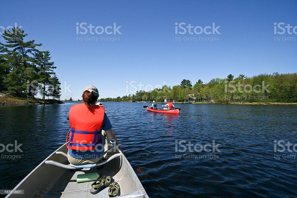 Canoeing royalty-free stock photo