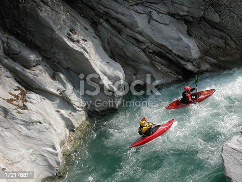 istock canoeist down the Sesia river 172176811