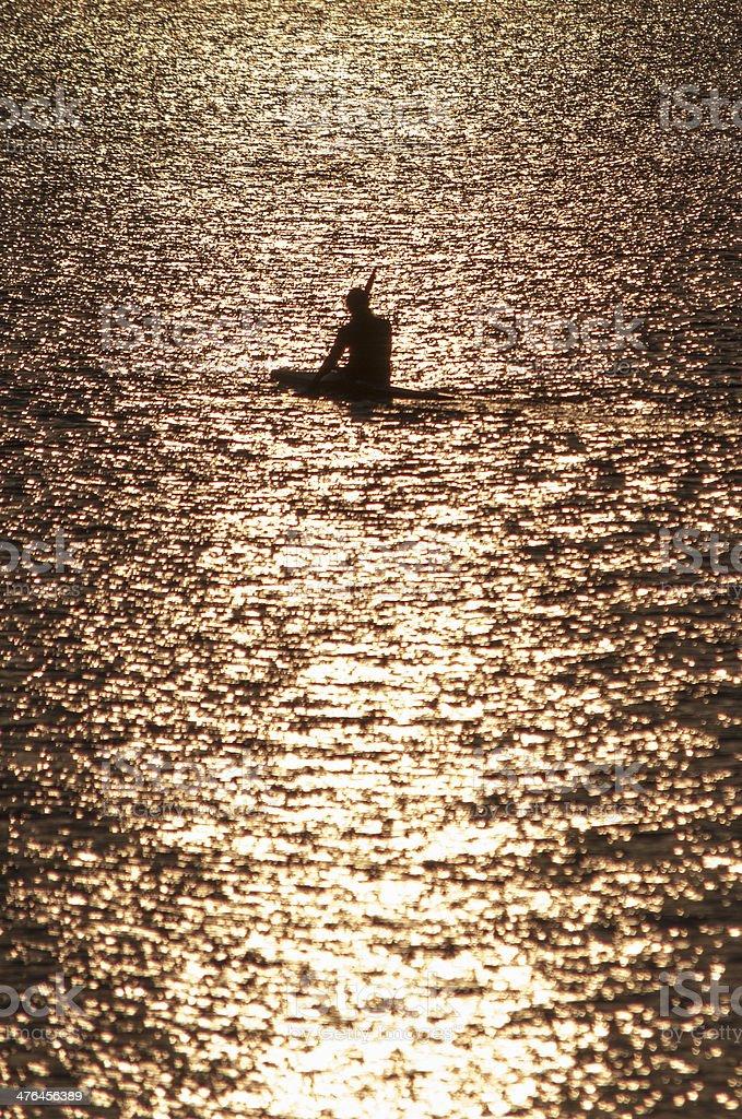 Canoeist royalty-free stock photo