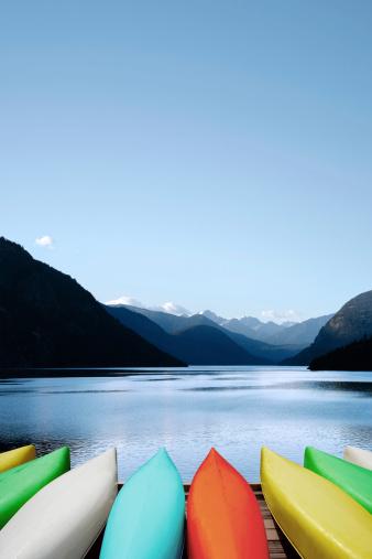 istock XXXL canoes and mountain lake 183290112
