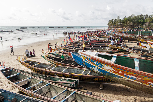 Canoes in Kafountine