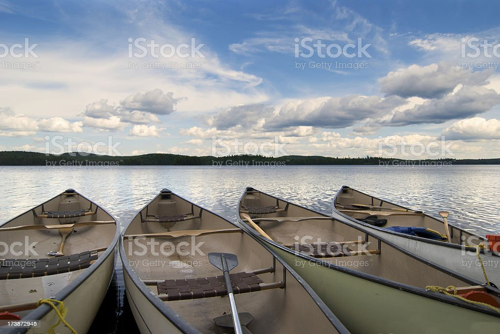 Canoes royalty-free stock photo