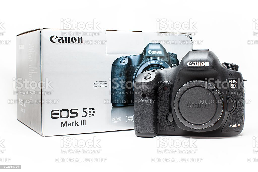 Canon 5D Mark III Camera Body MK3 Digital SLR stock photo