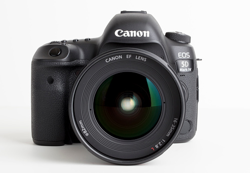 The latest edition to the Canon EOS lineup is the 5D Mark IV.  The camera has a new 30.4MP CMOS sensor and uses the Digic 6+ processor.