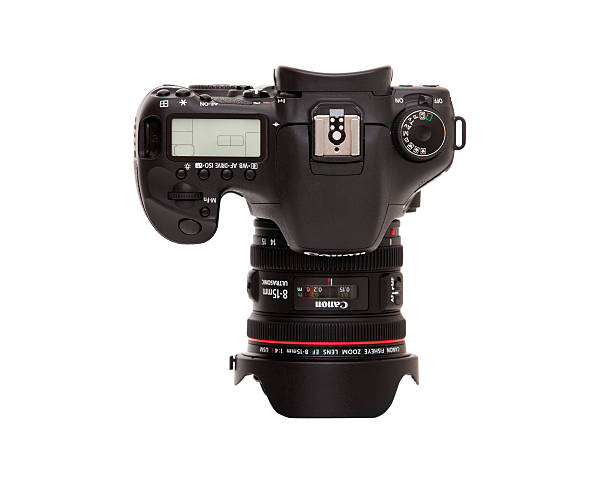 Canon 7D with EF 8-15mm Fisheye Lens stock photo