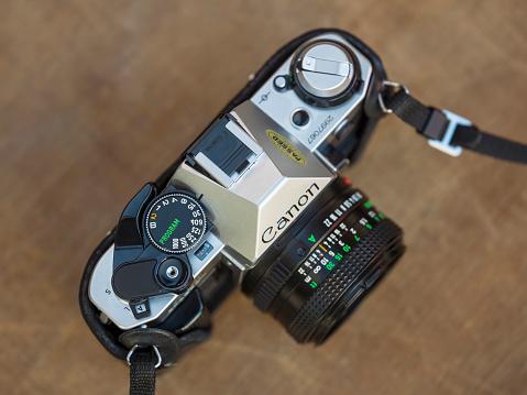 Canon AE-1 analog camera