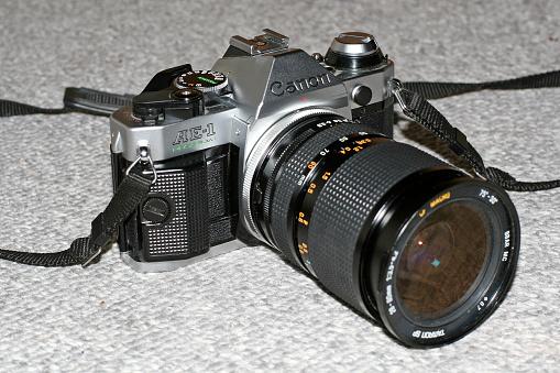 Canon AE-1 Program Film Camera with Tamron Lens