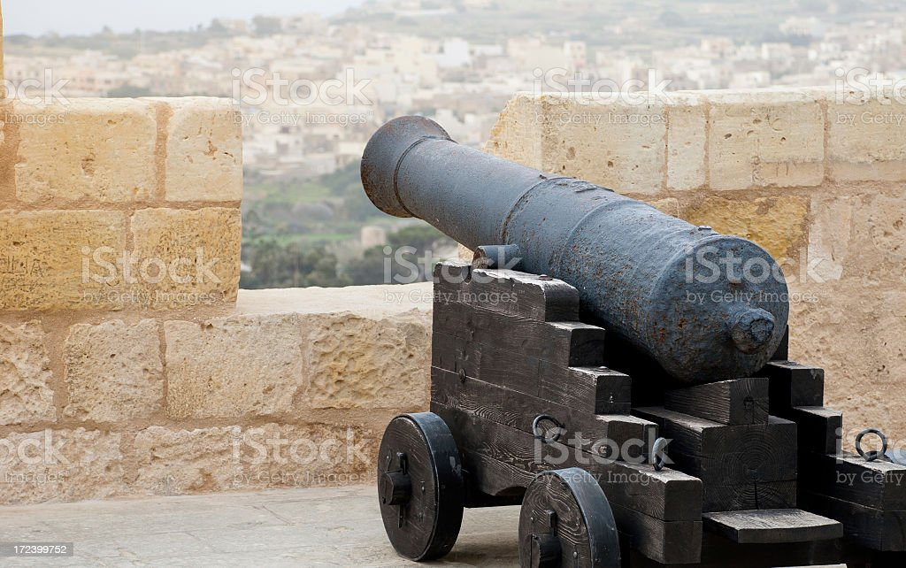 Canon at the Citidel stock photo