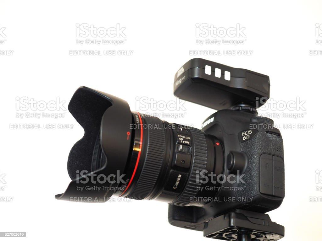 Canon DSLR camera stock photo
