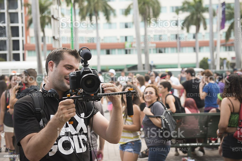 Canon DSLR Video Shooter royalty-free stock photo