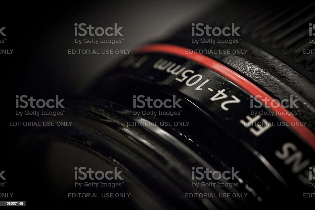 Canon EF 24-105 mm F/4.0 L IS USM Lens stock photo
