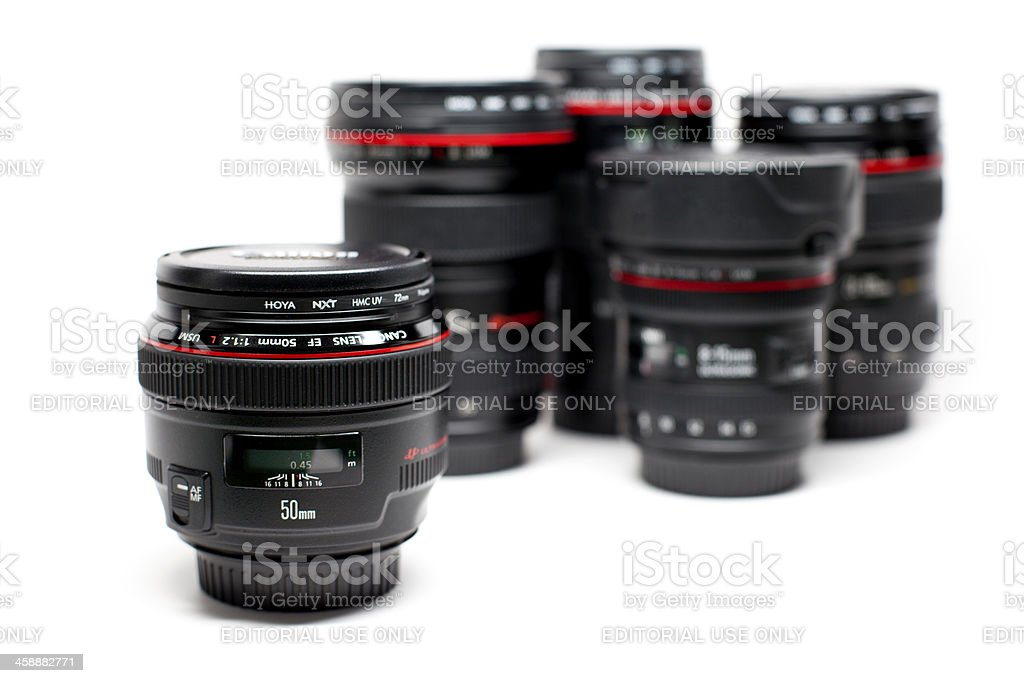 Canon EF 50mm f/1.2 L USM Lens royalty-free stock photo