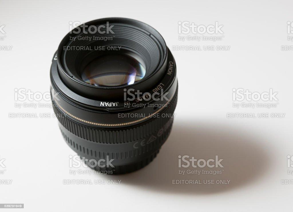Canon EF 50mm f/1.4 USM Lens stock photo