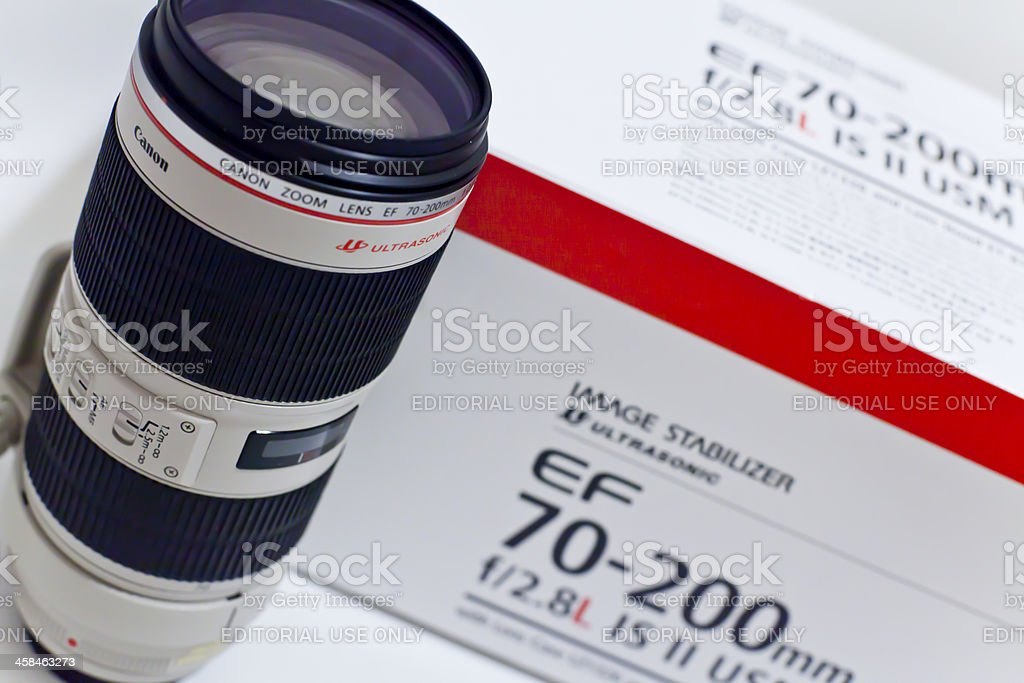 Canon EF 70-200mm f/2.8L IS II USM Telephoto Zoom Lens stock photo