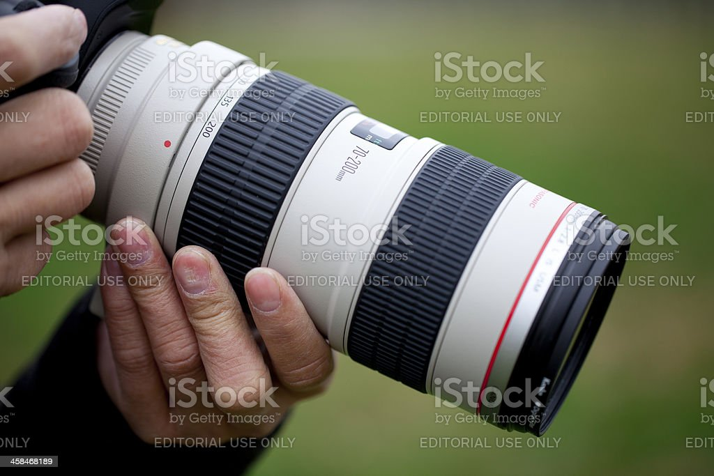 Canon EF 70-200mm f/2.8L IS II USM Telephoto Zoom Lens royalty-free stock photo