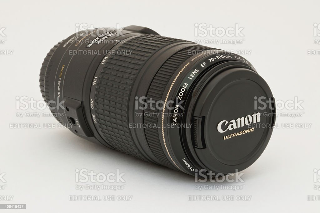 Canon EF 70-300mm IS USM Lens royalty-free stock photo