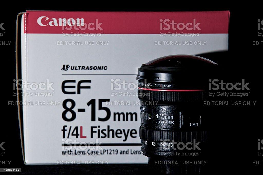 Canon EF 8-15mm f/4L Fisheye Lens royalty-free stock photo