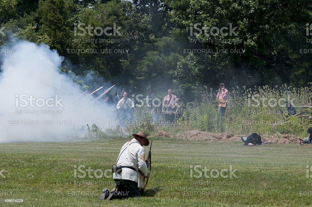 Canon Firing royalty-free stock photo