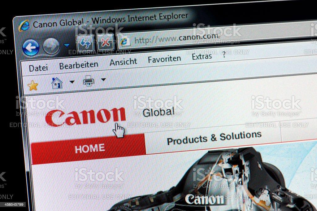 Canon - Macro shot of real monitor screen stock photo